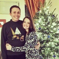 Sean and I were invited to an Ugly Sweater Christmas party.  (P.S. I made his sweater)
